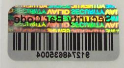 100 - 1000 SBC Security Barcode Tamper Proof Product Protect