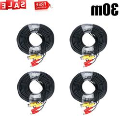100ft Security Camera Video Power Cable BNC Wire Cord for Al