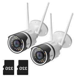 "ZOSI 1080p 9""LCD Wireless Security IP Camera Rechargeable Ba"