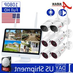 """ANRAN 1080P HD Audio Home Security WiFi Camera System 15""""LCD"""