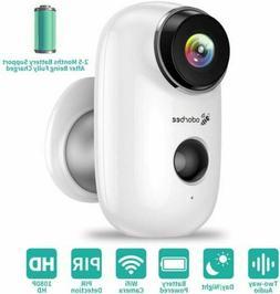 1080P HD WiFi Outdoor Security Camera Wireless Battery Power