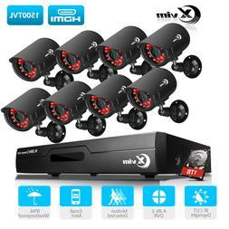 XVIM 1080P HDMI 8CH 4CH DVR Outdoor Surveillance CCTV Securi