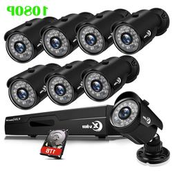 XVIM 1080P Outdoor CCTV Security Camera System HDMI 4CH 8CH
