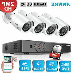 ANNKE 1080P HDMI HD-TVI 4CH DVR Outdoor Home Security IR Bul