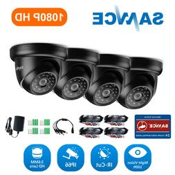 SANNCE 1080P In/Outdoor 2MP IR Dome TVI CCTV Home Security C