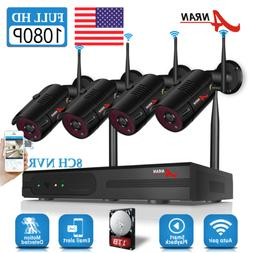ANRAN 1080P Home Security Camera System Wireless Outdoor 8CH