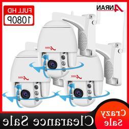 ANRAN Pan/Tilt CCTV Wireless Security Camera Waterproof 2way