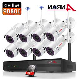 Outdoor Wireless Security Camera System 1080p with 2TB Hard