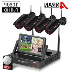 ANRAN 1080P Outdoor Wireless Home Security Camera System 1TB