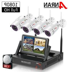 """ANRAN 1080P WiFi Camera Security System Outdoor CCTV 7""""Monit"""