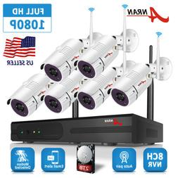 1080P Wireless Outdoor Security Camera System 8CH WIFI NVR H