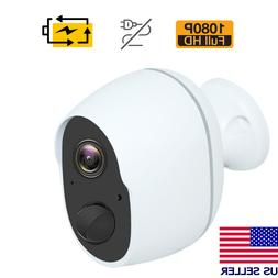 1080P Wireless Security Camera Indoor Outdoor Rechargeable B