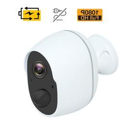 1080P Wireless Security Camera Indoor Outdoor Rechargeable B