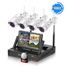 """ANRAN 1080P Wireless Security Camera System Outdoor 4CH 7"""" M"""