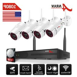 ANRAN 1080P Wireless Security Camera System Outdoor with 1TB