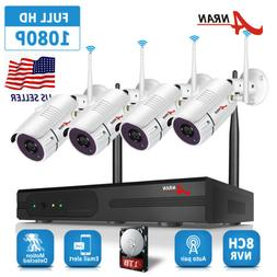 ANRAN 1080P Wireless Security Camera System Outdoor Wireless