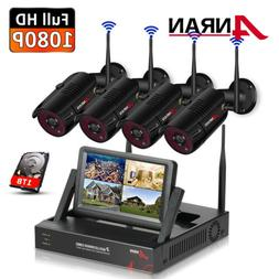 1080p Wireless Security Camera System WIFI CCTV Outdoor 1TB