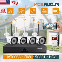 1080P Wireless Security Wifi IP Camera System In/Outdoor IR