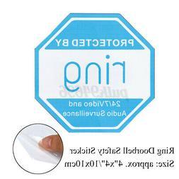 10cm x 10cm Ring Doorbell Sticker Video Security Camera Home