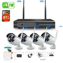14# security camera system wireless 1*recording NVR With 2TB