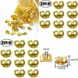 14K Yellow Gold Earring Backs Ear Locking 10 Pieces Secure F