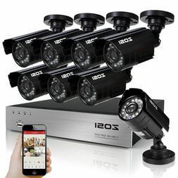 8CH 1080P CCTV DVR 1500TVL Outdoor 960H Night Vision Securit