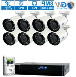 16 Channel 4K NVR  8MP 2160P PoE IP Outdoor Home Security Ca