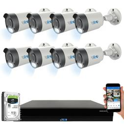 16 Channel 4K NVR 8 X 8MP PoE IP H.265+ AI Starlight Securit