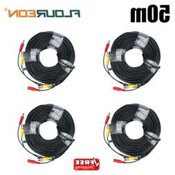165FT/100FT Security Camera Video DC Power Cable BNC RCA CCT