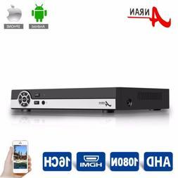 ANRAN 16CH 1080N HDMI 3IN1 AHD DVR Recorder CCTV Surveillanc