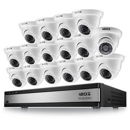 ZOSI 16CH 1080N TVI DVR Outdoor IR Night Vision LEDs Camera