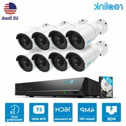 16CH 1440P 4MP IP Security Cameras System PoE NVR 3TB HDD Re