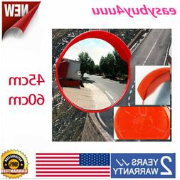 """18""""/24"""" Wide Angle Security Convex Mirror Outdoor Road Traff"""