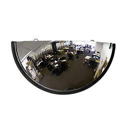 """18"""" Acrylic Bubble Half Dome Mirror with Black Rim, Round"""
