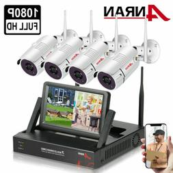 """2.0MP 7"""" Monitor Wireless Home Security Camera System Outdoo"""
