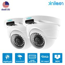 2 pack 4MP Add-on PoE IP Security Camera Waterproof Outdoor