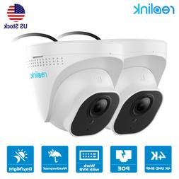 2-Set 4K 8MP PoE Add-on Security IP Camera Only Work With Re