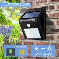 20 LED Outdoor Solar Power Wall Lights PIR Motion Sensor Gar