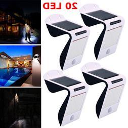 20 LED - Solar Power Sensor Wall Light Security Motion Weath