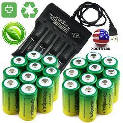 20* Rechargeable 16340 Batteries 3.7V CR123A for Netgear Arl
