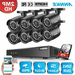 ANNKE 2000TVL HD Security Camera System 8CH 1080N DVR Home O