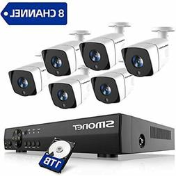 2020 1080P Security Camera System, 8-Channel Outdoor/Indoor