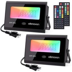 20W RGB Flood Lights Outdoor Garden Color Changing LED Secur