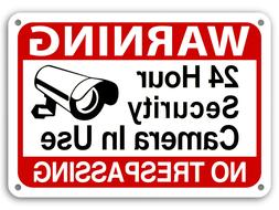 24 Hour Surveillance Signs Home Security Warning Signs No Tr