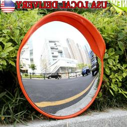 """24"""" Traffic Convex Mirror Safety Wide Angle Driveway Road Ou"""