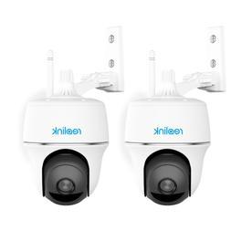 2pcs Wireless Pan Tilt Battery Powered WiFi Security Camera