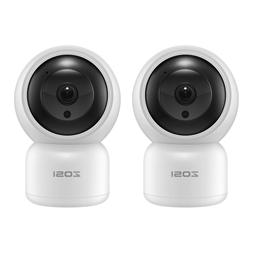 ZOSI 2PCS Wireless WIFI IP Home Security Camera 1080p HD Pan