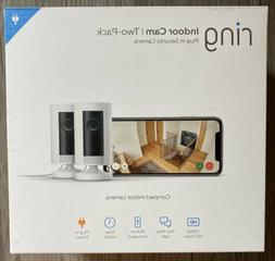 RING 2PK INDOOR 1080P HD Security Cam, 2way Talk, WiFi, Nigh