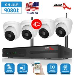 ANRAN 2Way Audio Home 1080P Security Camera System Wireless