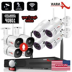 ANRAN 2Way Audio Security Camera System Wireless Home 1080P